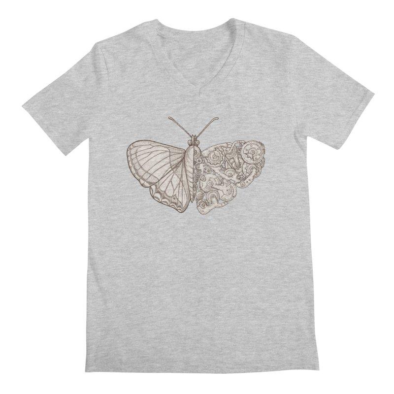 butterfly sci-fi Men's Regular V-Neck by makapa's Artist Shop