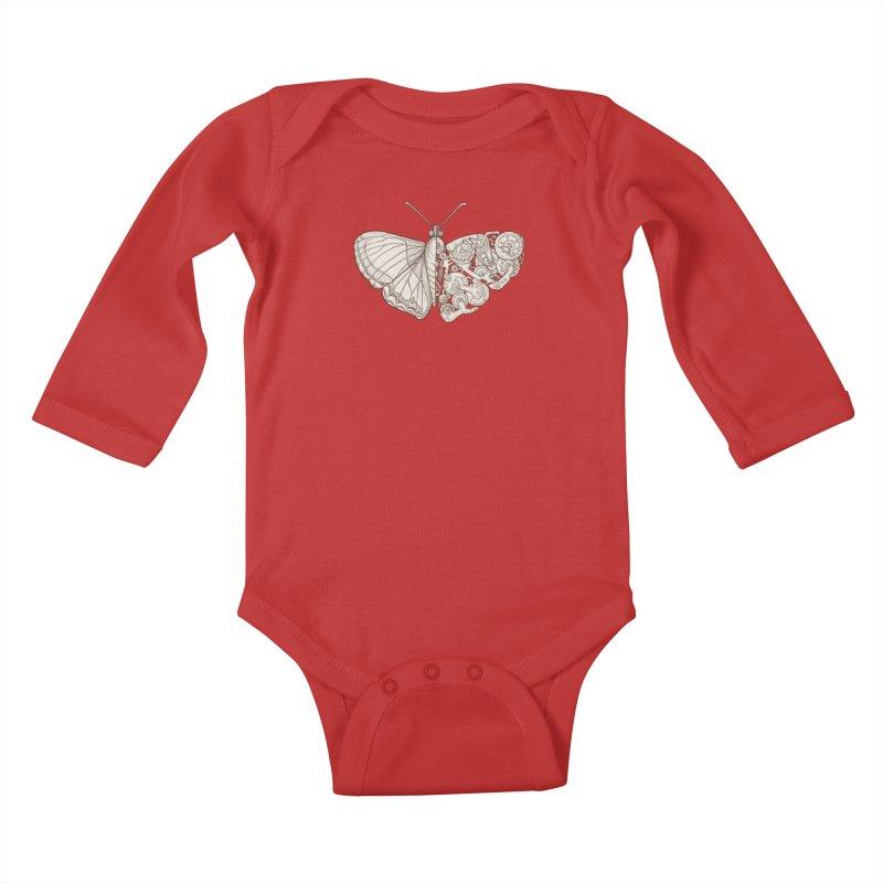 butterfly sci-fi Kids Baby Longsleeve Bodysuit by makapa's Artist Shop