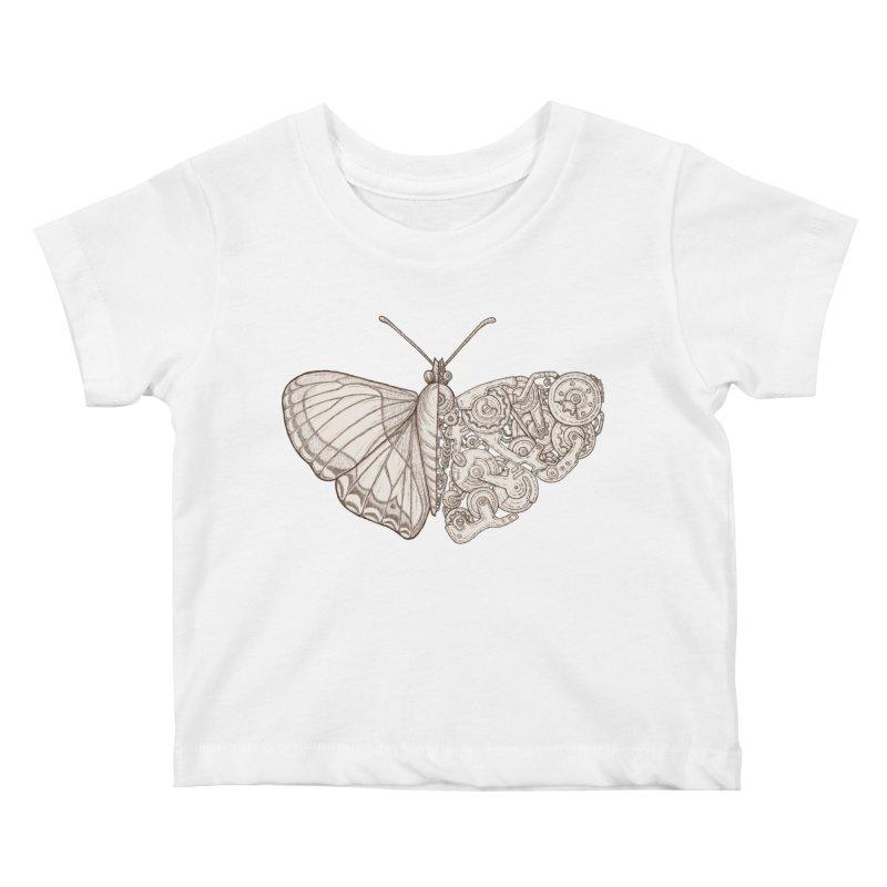 butterfly sci-fi Kids Baby T-Shirt by makapa's Artist Shop