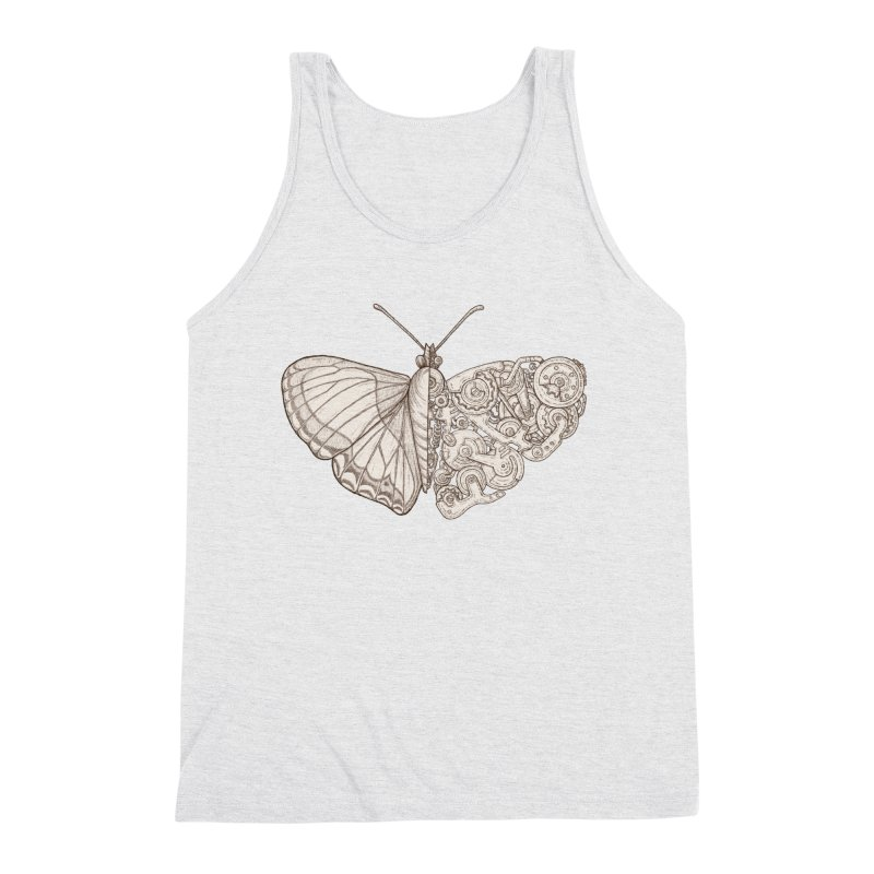 butterfly sci-fi Men's Triblend Tank by makapa's Artist Shop