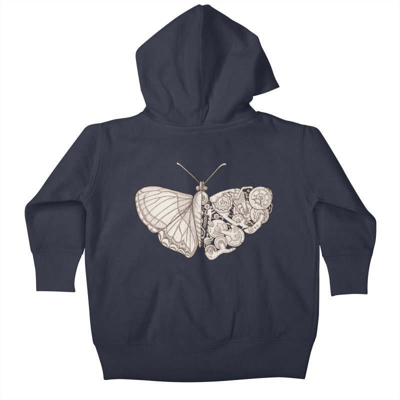 butterfly sci-fi Kids Baby Zip-Up Hoody by makapa's Artist Shop