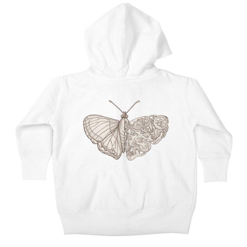 butterfly sci-fi Kids Baby Zip-Up Hoody by makapa's Artist Shop