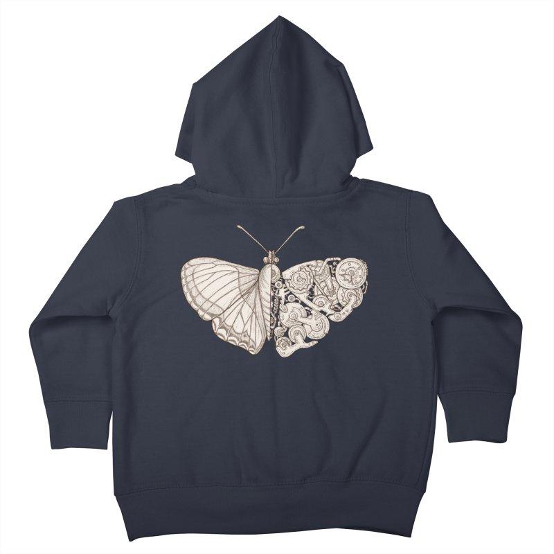 butterfly sci-fi Kids Toddler Zip-Up Hoody by makapa's Artist Shop