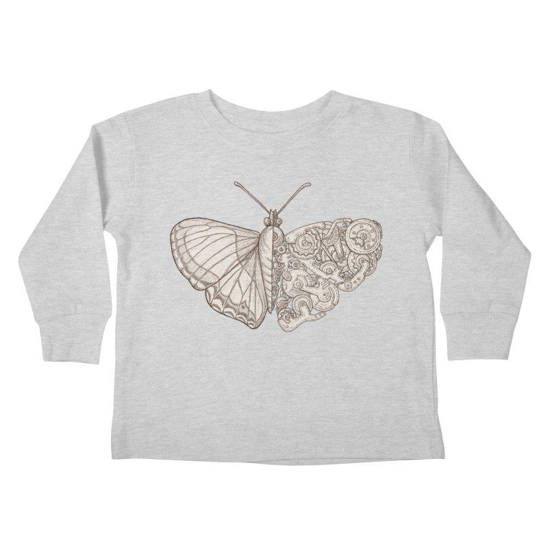 butterfly sci-fi Kids Toddler Longsleeve T-Shirt by makapa's Artist Shop