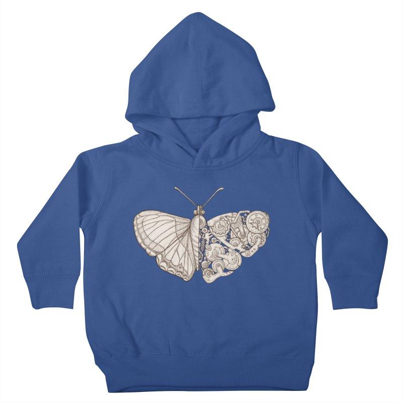 butterfly sci-fi Kids Toddler Pullover Hoody by makapa's Artist Shop