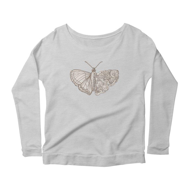 butterfly sci-fi Women's Scoop Neck Longsleeve T-Shirt by makapa's Artist Shop