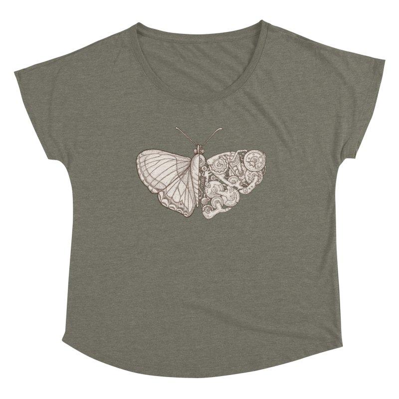 butterfly sci-fi Women's Scoop Neck by makapa's Artist Shop