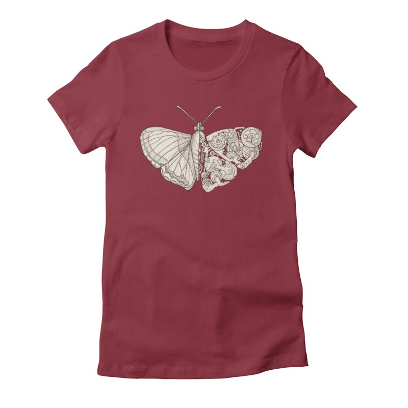 butterfly sci-fi Women's Fitted T-Shirt by makapa's Artist Shop
