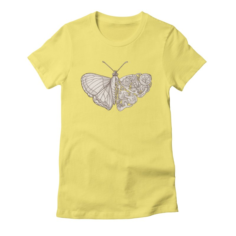 butterfly sci-fi Women's Fitted T-Shirt by makapa's Artist Shop