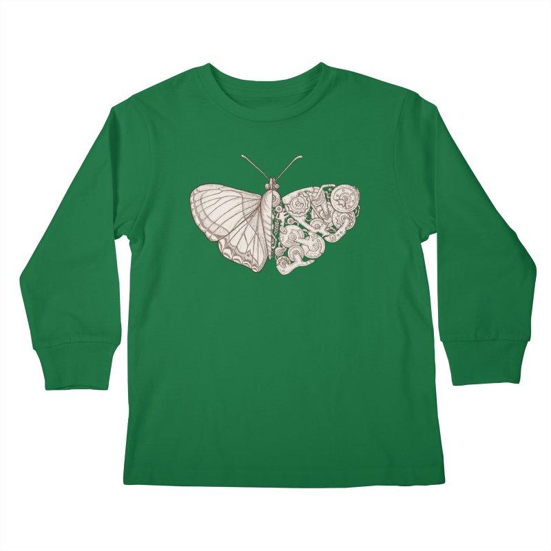 butterfly sci-fi Kids Longsleeve T-Shirt by makapa's Artist Shop