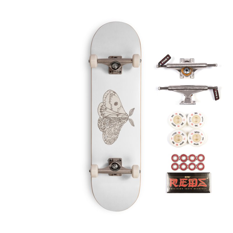 moth sci-fi Accessories Complete - Pro Skateboard by makapa's Artist Shop