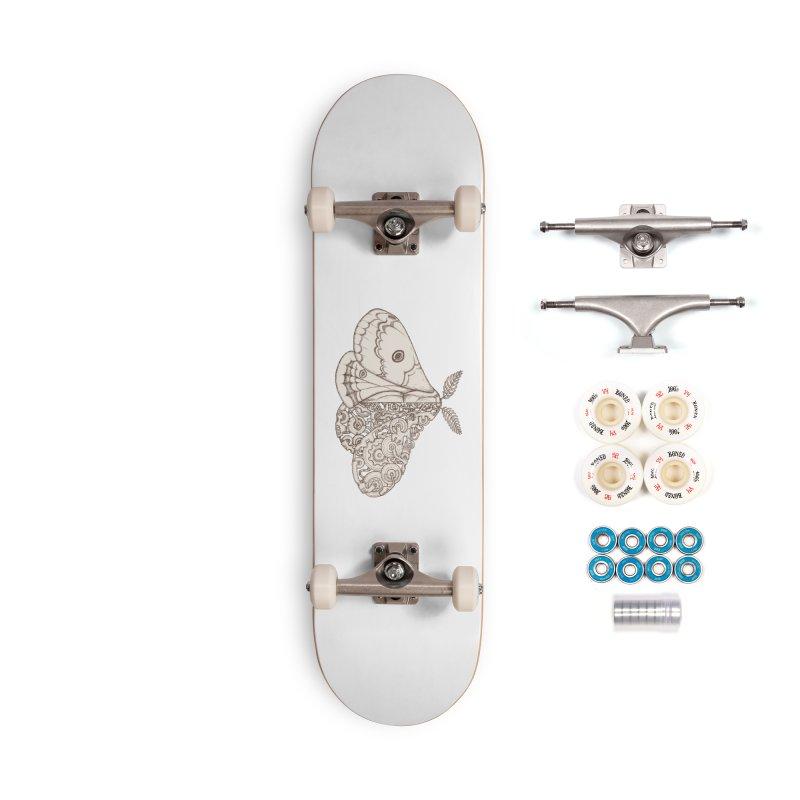 moth sci-fi Accessories Complete - Premium Skateboard by makapa's Artist Shop