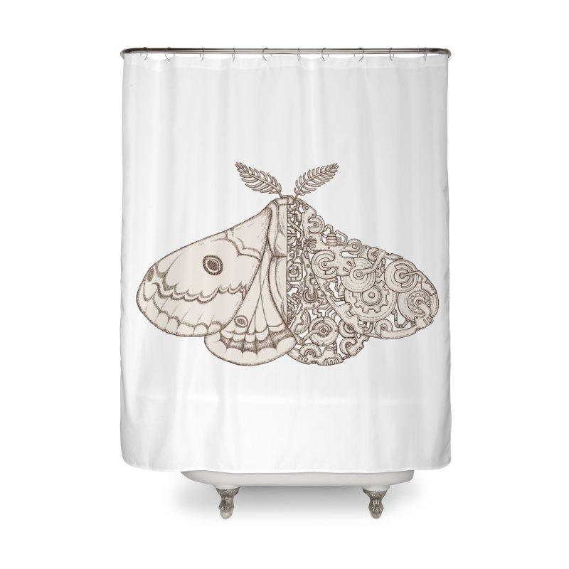 moth sci-fi Home Shower Curtain by makapa's Artist Shop
