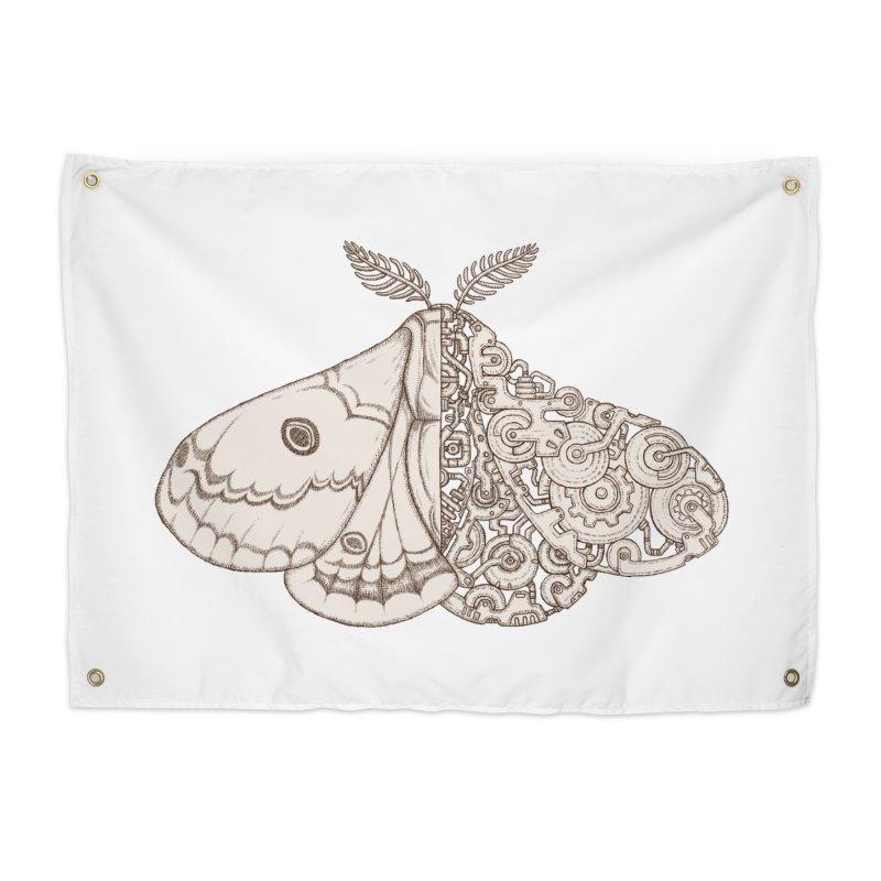 moth sci-fi Home Tapestry by makapa's Artist Shop