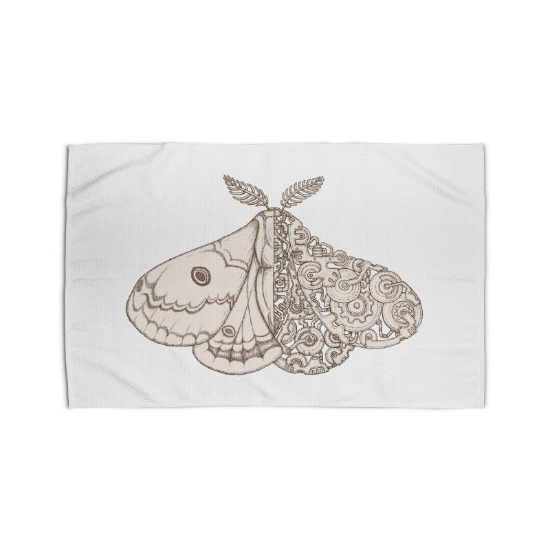 moth sci-fi Home Rug by makapa's Artist Shop