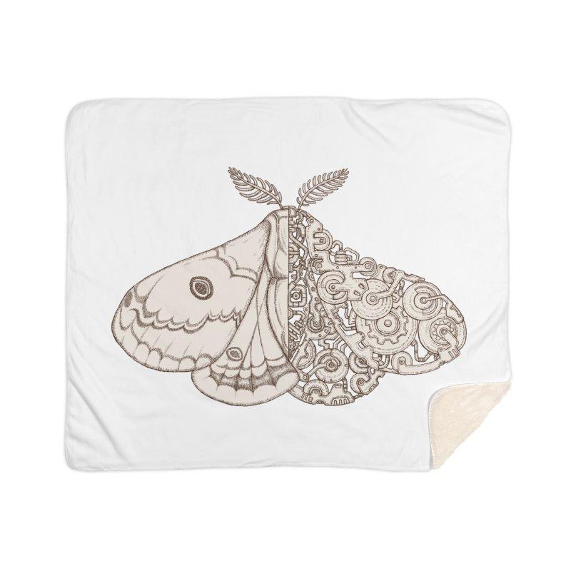 moth sci-fi Home Sherpa Blanket Blanket by makapa's Artist Shop