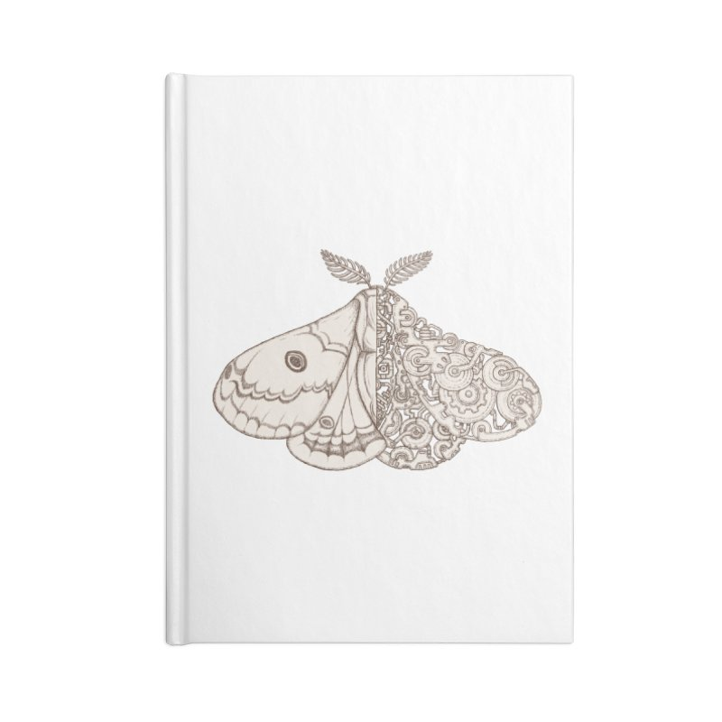 moth sci-fi Accessories Lined Journal Notebook by makapa's Artist Shop