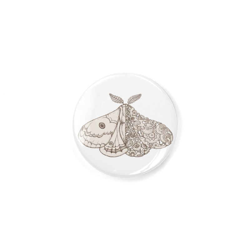 moth sci-fi Accessories Button by makapa's Artist Shop