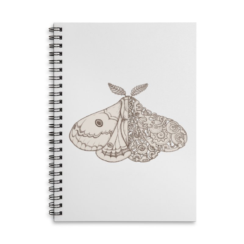 moth sci-fi Accessories Lined Spiral Notebook by makapa's Artist Shop