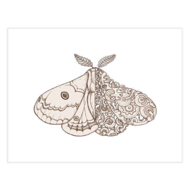 moth sci-fi Home Fine Art Print by makapa's Artist Shop