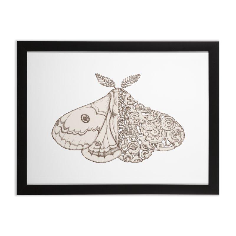 moth sci-fi Home Framed Fine Art Print by makapa's Artist Shop