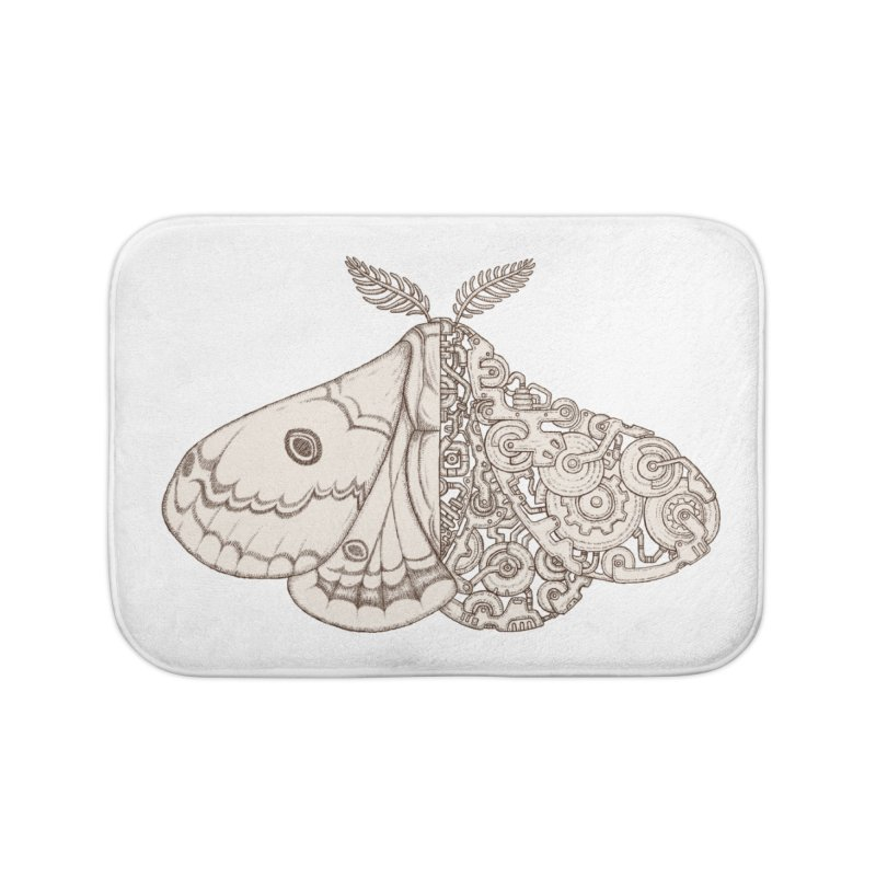 moth sci-fi Home Bath Mat by makapa's Artist Shop