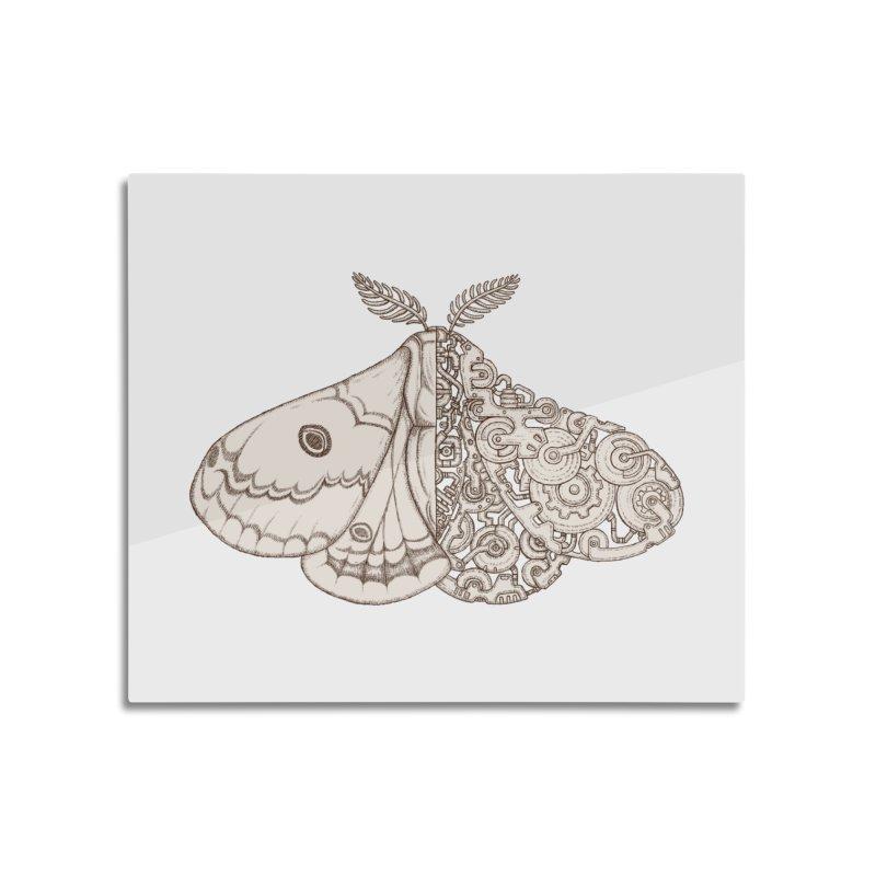 moth sci-fi Home Mounted Acrylic Print by makapa's Artist Shop