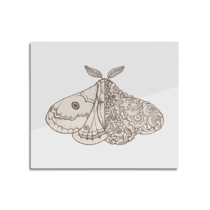 moth sci-fi Home Mounted Aluminum Print by makapa's Artist Shop