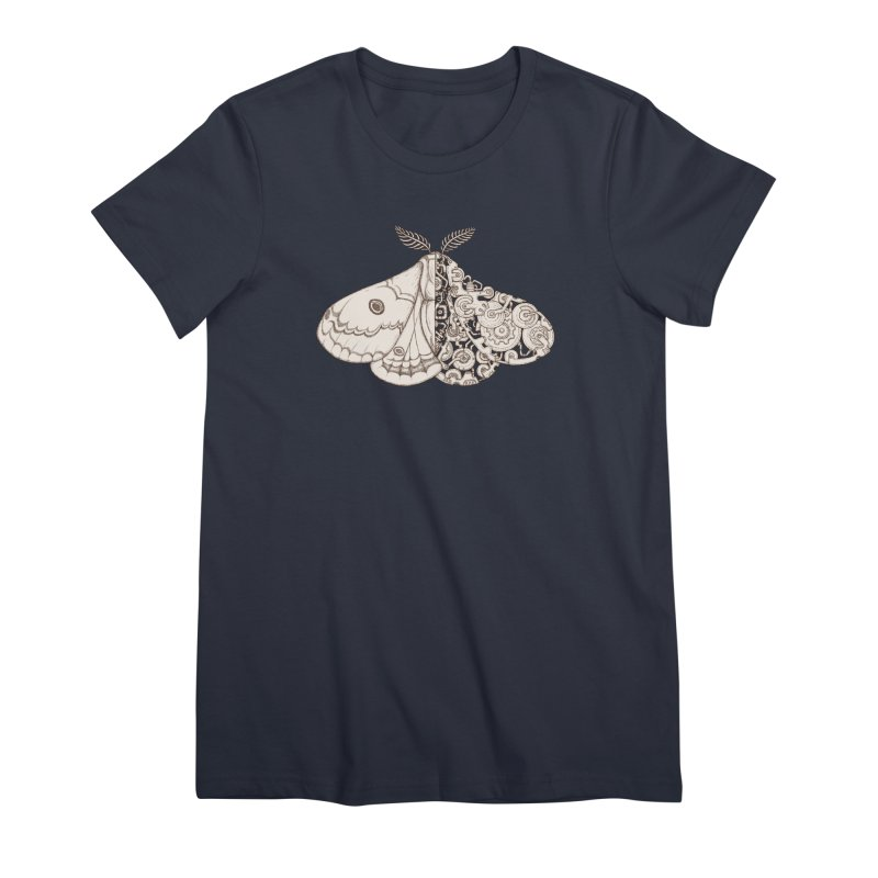 moth sci-fi Women's Premium T-Shirt by makapa's Artist Shop