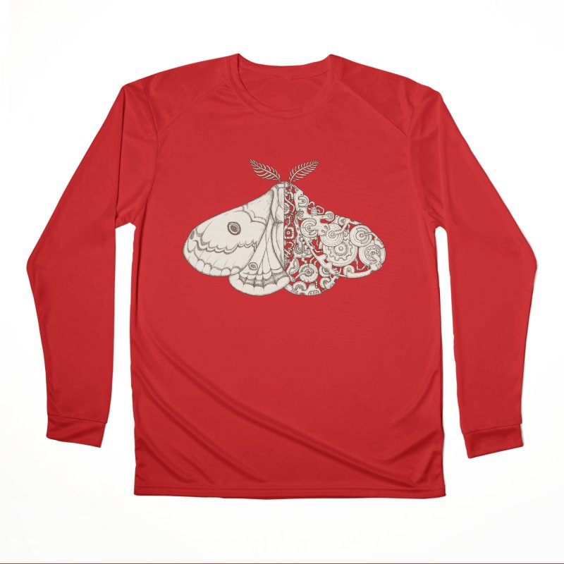 moth sci-fi Women's Performance Unisex Longsleeve T-Shirt by makapa's Artist Shop