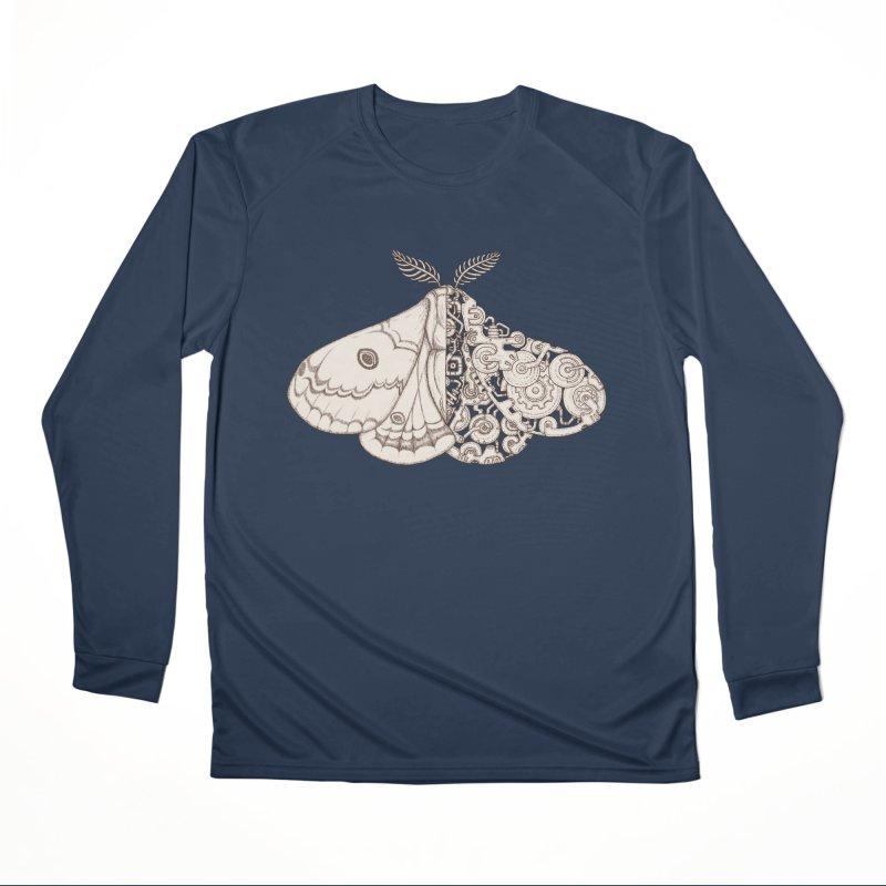 moth sci-fi Men's Performance Longsleeve T-Shirt by makapa's Artist Shop