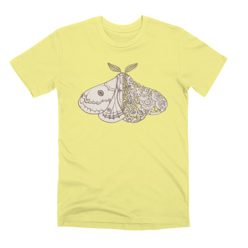 moth sci-fi Men's Premium T-Shirt by makapa's Artist Shop