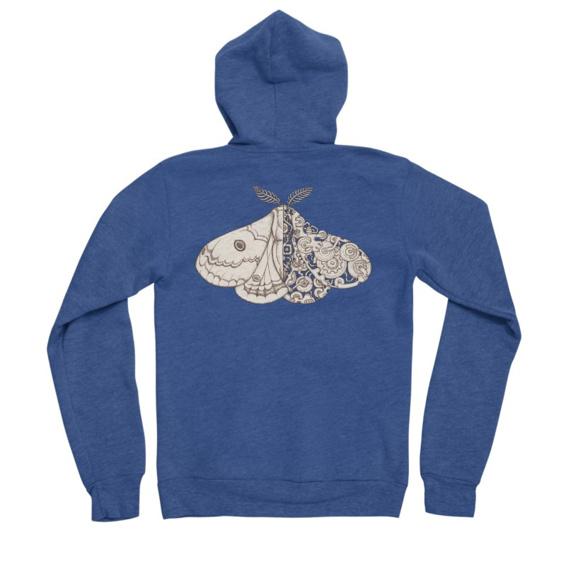 moth sci-fi Men's Sponge Fleece Zip-Up Hoody by makapa's Artist Shop