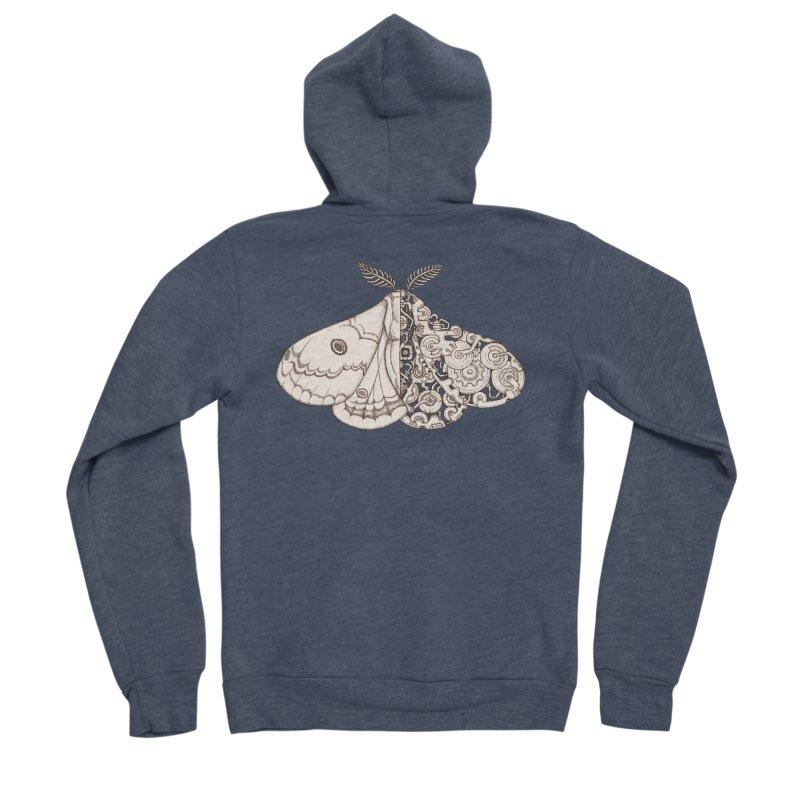 moth sci-fi Women's Sponge Fleece Zip-Up Hoody by makapa's Artist Shop