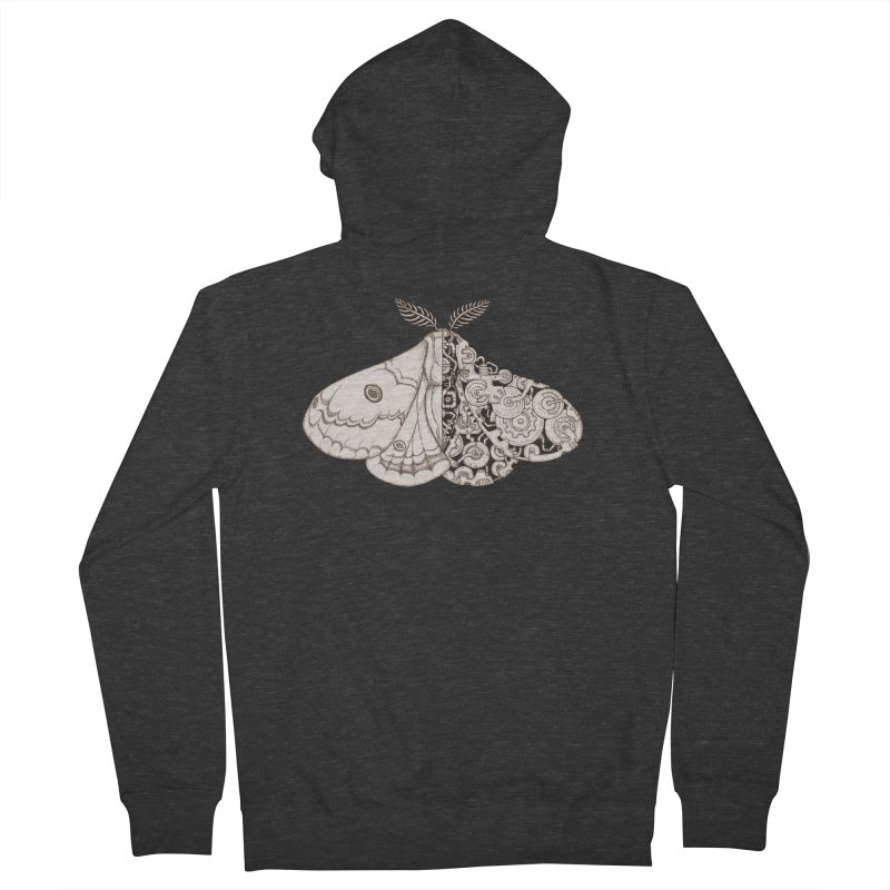 moth sci-fi Women's French Terry Zip-Up Hoody by makapa's Artist Shop