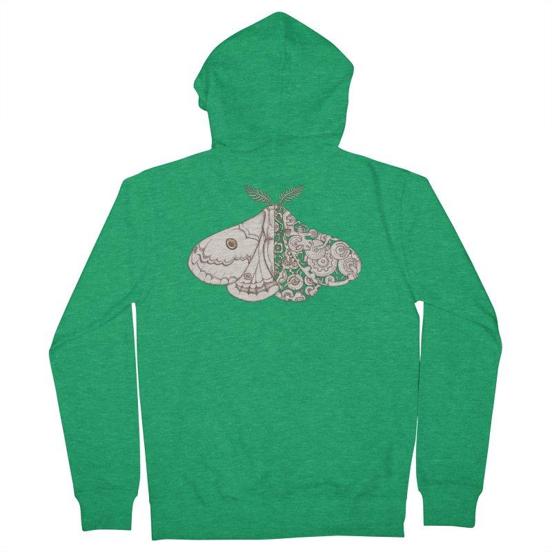moth sci-fi Men's Zip-Up Hoody by makapa's Artist Shop