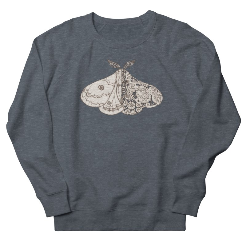 moth sci-fi Women's French Terry Sweatshirt by makapa's Artist Shop