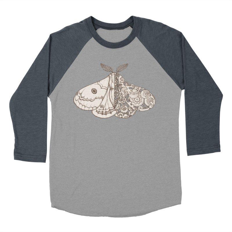 moth sci-fi Women's Baseball Triblend Longsleeve T-Shirt by makapa's Artist Shop