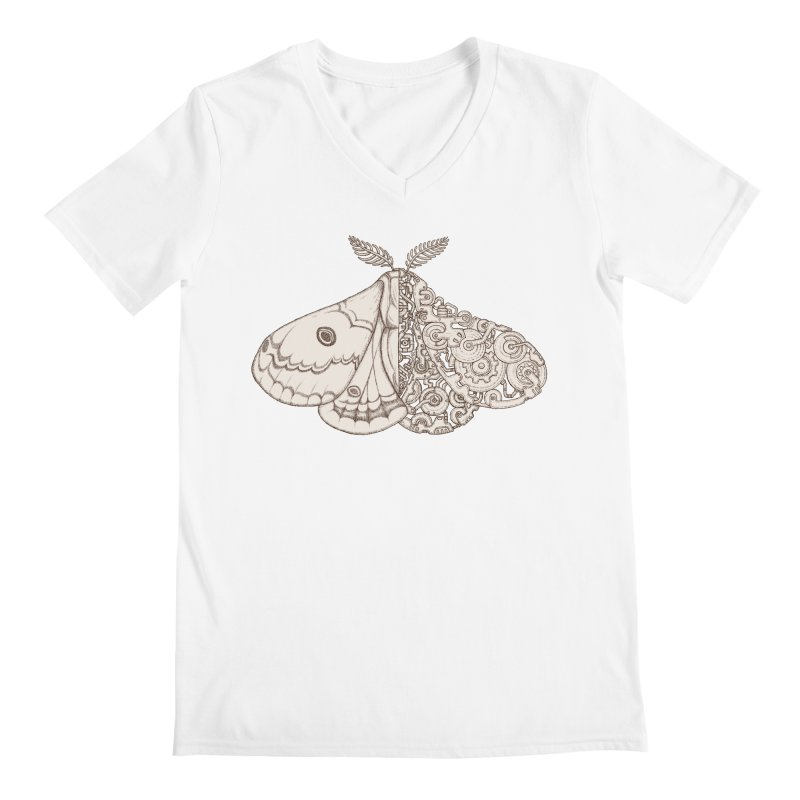 moth sci-fi Men's V-Neck by makapa's Artist Shop