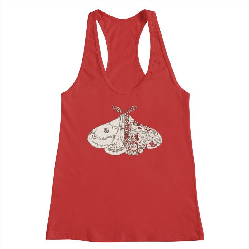 moth sci-fi Women's Racerback Tank by makapa's Artist Shop