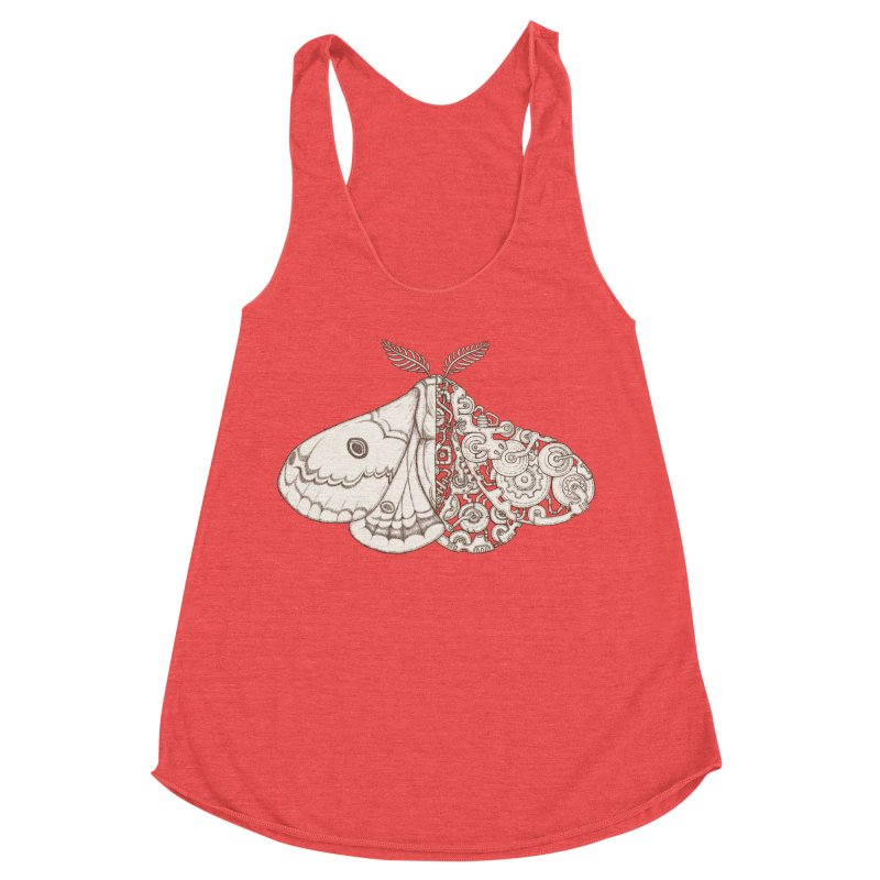 moth sci-fi Women's Racerback Triblend Tank by makapa's Artist Shop