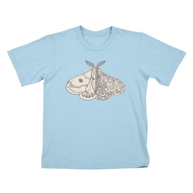 moth sci-fi Kids T-Shirt by makapa's Artist Shop