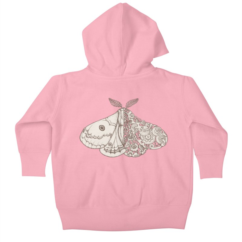 moth sci-fi Kids Baby Zip-Up Hoody by makapa's Artist Shop