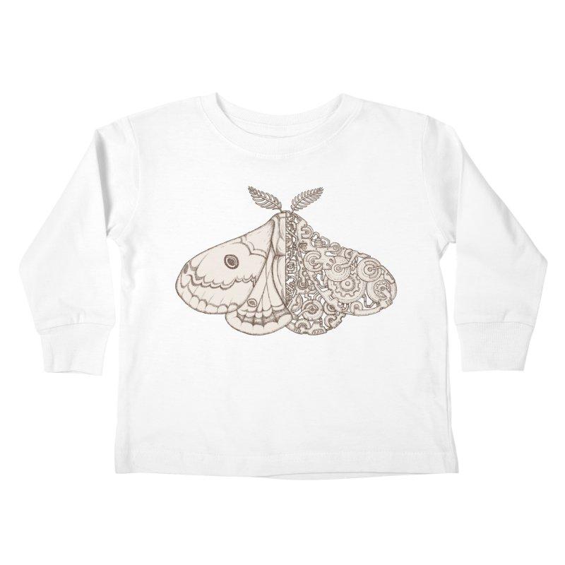 moth sci-fi Kids Toddler Longsleeve T-Shirt by makapa's Artist Shop