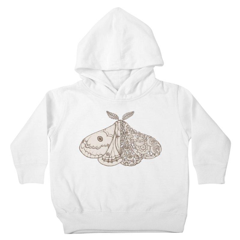 moth sci-fi Kids Toddler Pullover Hoody by makapa's Artist Shop