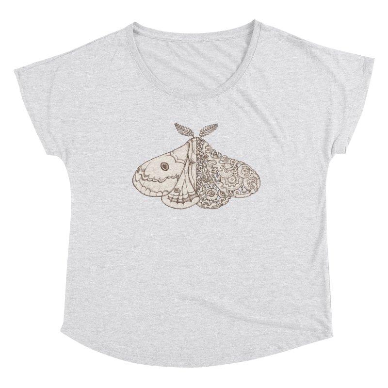 moth sci-fi Women's Dolman Scoop Neck by makapa's Artist Shop