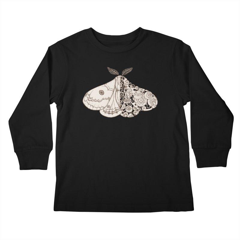 moth sci-fi Kids Longsleeve T-Shirt by makapa's Artist Shop