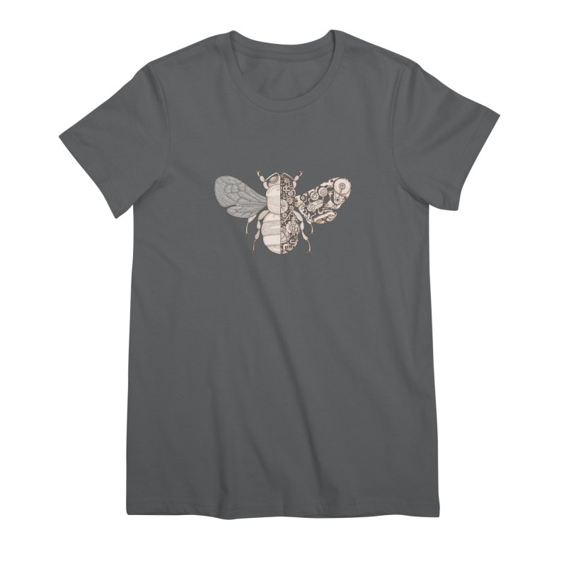 Bee sci-fi Women's Premium T-Shirt by makapa's Artist Shop