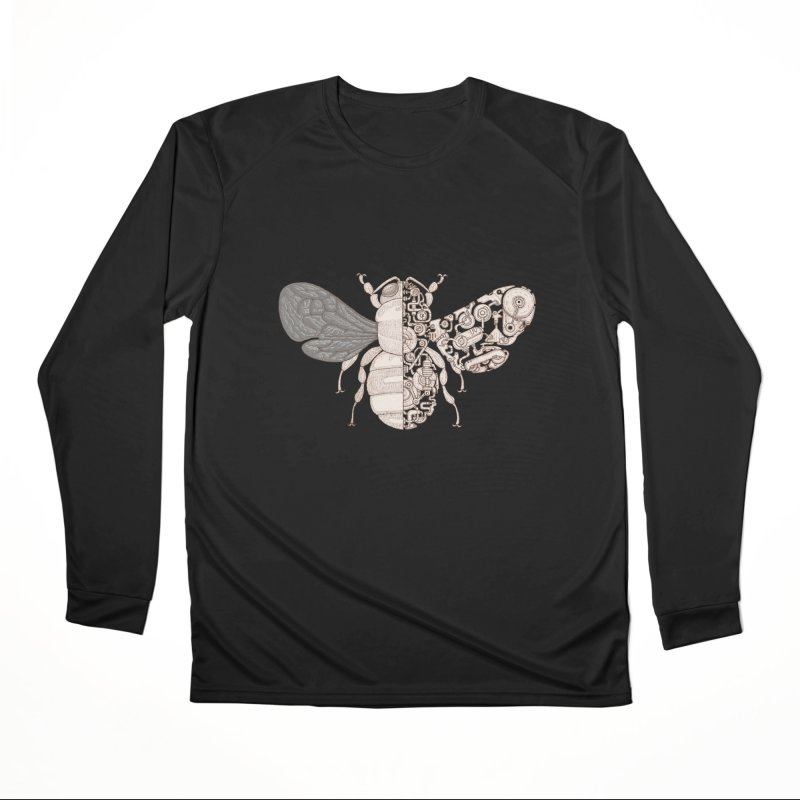 Bee sci-fi Women's Performance Unisex Longsleeve T-Shirt by makapa's Artist Shop