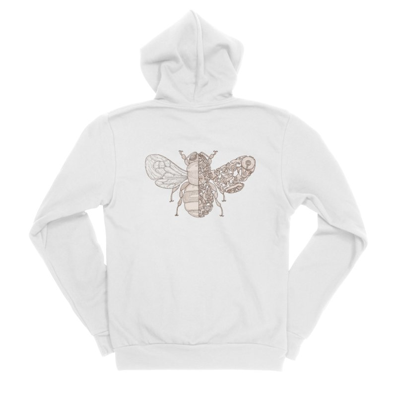 Bee sci-fi Men's Sponge Fleece Zip-Up Hoody by makapa's Artist Shop